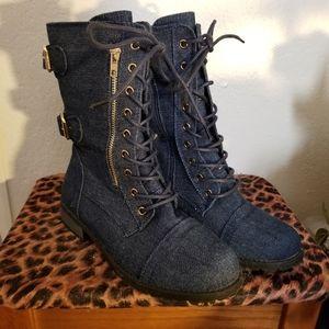Forever Denim Boot, bootie, size 8, hiking, zip